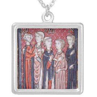 An Engagement, from 'Decrets de Gratien' Silver Plated Necklace