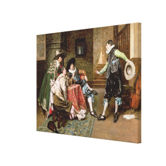 An Engaging Tale 1894 oil on panel Stretched Canvas Prints
