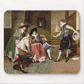 An Engaging Tale 1894 oil on panel Mousepads