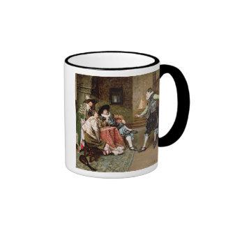 An Engaging Tale 1894 oil on panel Mug