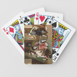 An Engaging Tale 1894 oil on panel Bicycle Poker Cards