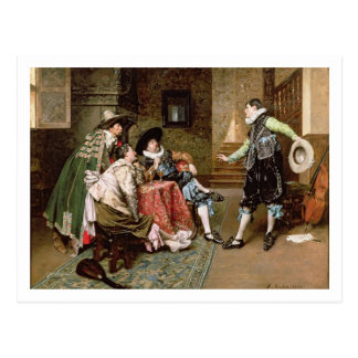 An Engaging Tale 1894 oil on panel Post Card