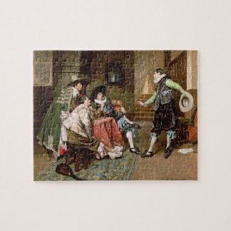 An Engaging Tale 1894 oil on panel Jigsaw Puzzle