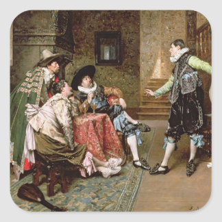 An Engaging Tale 1894 oil on panel Sticker