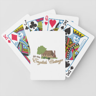 An English Cottage Bicycle Playing Cards