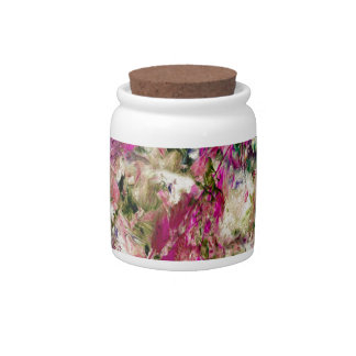 An English Country Garden Candy Jar