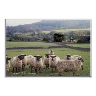 An English Country Scene Poster