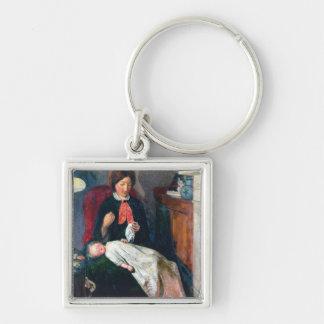 An English Fireside of 1854-5 Keychain