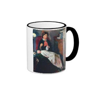 An English Fireside of 1854-5 Ringer Coffee Mug