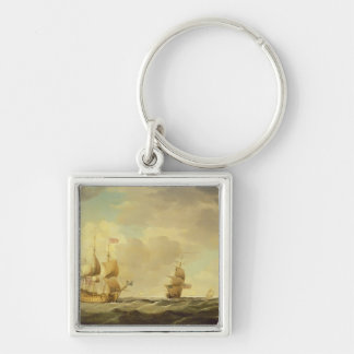 An English Flagship Under Easy Sail in a Moderate Keychain