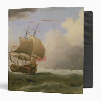 An English Ship Close-hauled in a Strong Breeze Vinyl Binder