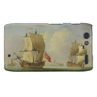 An English Sloop and a Frigate in a Light Breeze ( Motorola Droid RAZR Covers