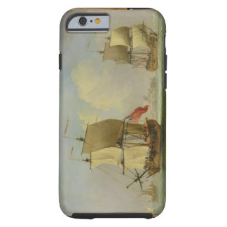 An English Sloop and a Frigate in a Light Breeze ( Tough iPhone 6 Case
