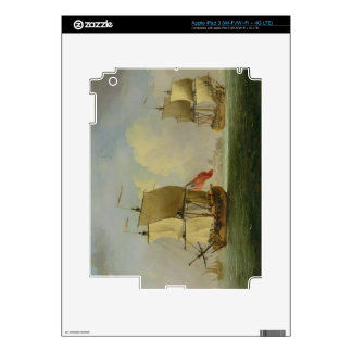 An English Sloop and a Frigate in a Light Breeze ( iPad 3 Skins