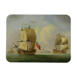 An English Sloop and a Frigate in a Light Breeze ( Magnet
