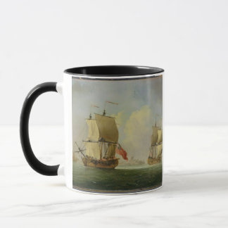 An English Sloop and a Frigate in a Light Breeze ( Mug