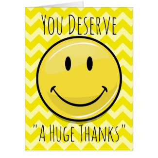 An Enormous Smile Gigantic Thank You Card