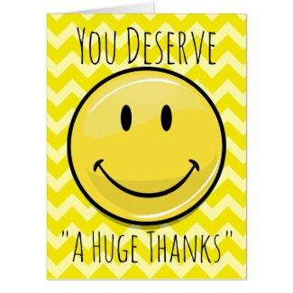 An Enormous Smile Gigantic Thank You Card