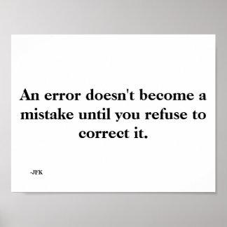 An Error Poster