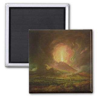 An Eruption of Vesuvius, seen from Portici 2 Inch Square Magnet