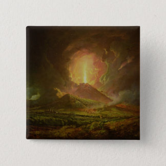 An Eruption of Vesuvius, seen from Portici Pinback Button