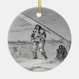 An Eskimaux of Igloolik, wearing a bird-skin jacke Ceramic Ornament
