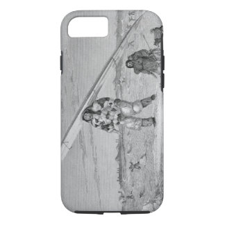 An Eskimaux of Igloolik, wearing a bird-skin jacke iPhone 8/7 Case