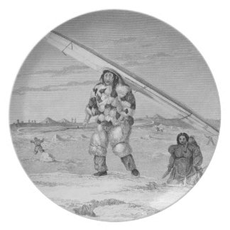 An Eskimaux of Igloolik, wearing a bird-skin jacke Dinner Plates