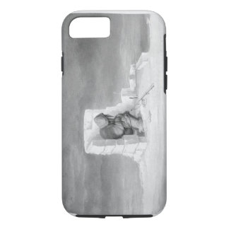 An Eskimaux watching a Seal-Hole, from 'Journal of iPhone 7 Case