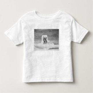 An Eskimaux watching a Seal-Hole, from 'Journal of T Shirts