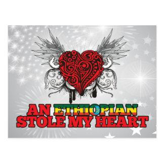 An Ethiopian Stole my Heart Postcard