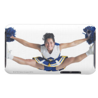 an ethnic teenage female cheerleader jumps high barely there iPod case