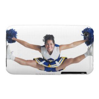 an ethnic teenage female cheerleader jumps high Case-Mate iPhone 3 case