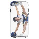 an ethnic teenage female cheerleader jumps high tough iPhone 6 case