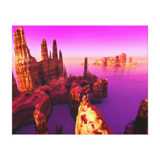 An Evening At Monolake Canvas Print