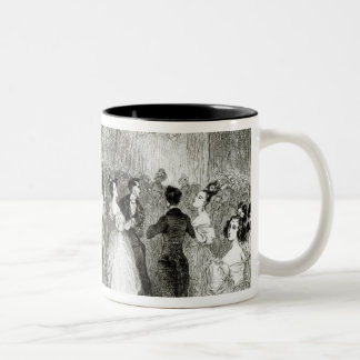 An Evening at the House of Charles Nodier  1831 Two-Tone Coffee Mug