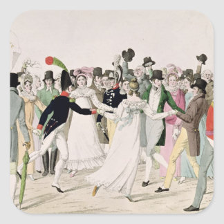 An Evening at the Tuileries in July 1815 Square Sticker