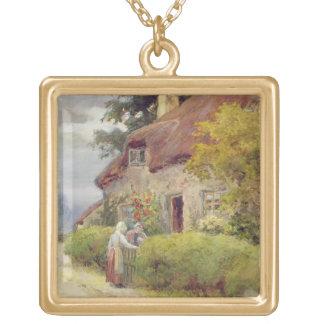 An evening gossip gold plated necklace