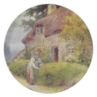 An evening gossip plates