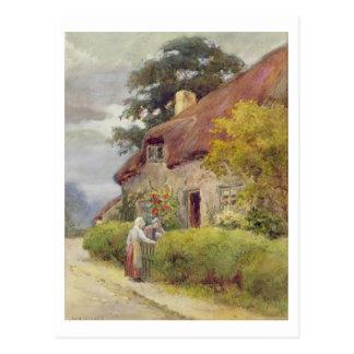 An evening gossip postcard