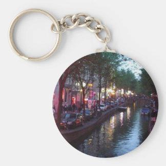 An evening in Amsterdam Keychain