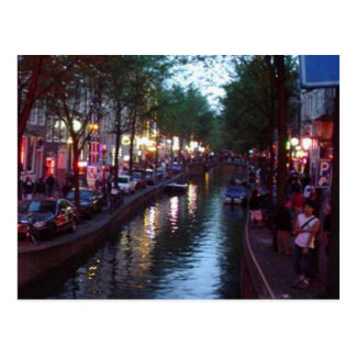 An evening in Amsterdam Postcard