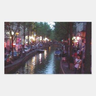 An evening in Amsterdam Rectangular Sticker