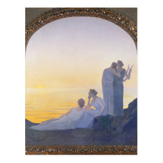 An Evening in Ancient Times, 1908 Postcard