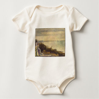 An Evening in Grand Camp by Georges Seurat Baby Bodysuit