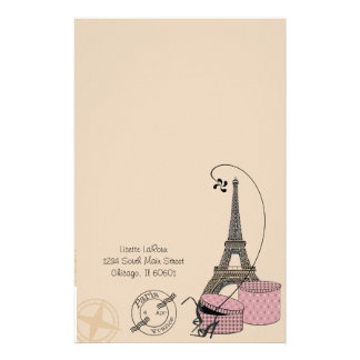 An Evening In Paris Customizable Stationery