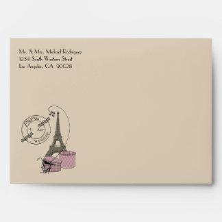 An Evening In Paris Pink Themed Matching Envelope