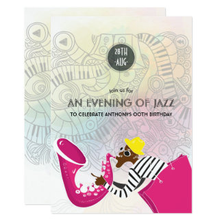 An evening of Jazz any occasion Party invitation