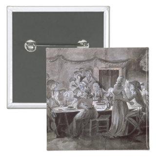 An Evening Wedding Meal Pinback Button