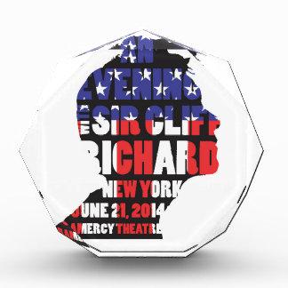 An Evening with Sir Cliff Richard Acrylic Award